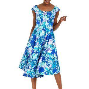 Calvin Klein Floral-Print Fit & Flare Dres…
